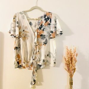 Love Stitch floral printed blouse